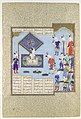 """Kai Khusrau's War Prizes Are Pledged"", Folio 225v from the Shahnama (Book of Kings) of Shah Tahmasp MET DP107150.jpg"