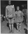 """Mutt and Jeff"" of Company ""D,"" 505th Engineers on the Roma. The tallest and shortest members o . . . - NARA - 533539.tif"
