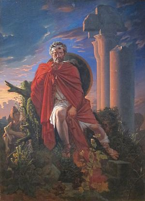 Pierre-Nolasque Bergeret - Image: 'Marius Meditating on the Ruins of Carthage' by Pierre Nolasque Bergeret, Dayton Art Institute