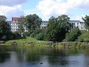 Ørstedsparken - Image: Ørstedparken lake