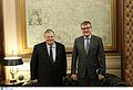 Συνάντηση Αντιπροέδρου της Κυβέρνησης και Υπουργού Εξωτερικών Ευ. Βενιζέλου με τον Πρέσβη της Γερμανίας P. Schoof (15538681408).jpg