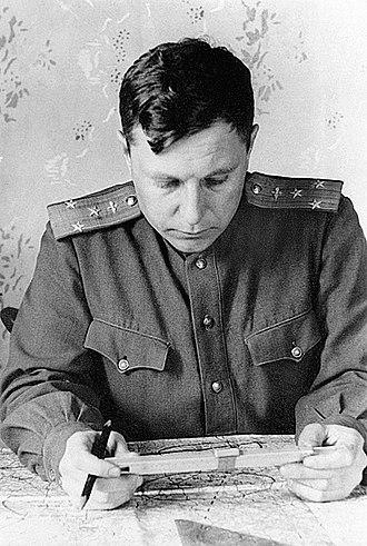 Alexander Pokryshkin - Marshal of the aviation A.I. Pokryshkin, 1978      Photo: Leo L. Medvedev