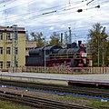 Бологое, вокзал, паровоз Эу 706-10 - panoramio.jpg