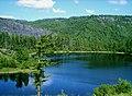 """Вид с сопки на одно из цепочки озёр природного парка """"Голубые озёра"""".jpg"""