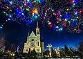 Костел Воздвиження Святого Хреста (Фастів) на Різдво 01.jpg