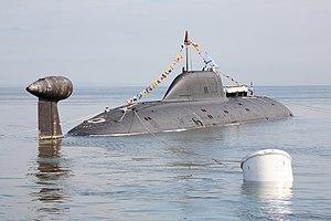 Akula-class submarine - Image: Парад кораблей 7 АПЛ Магадан