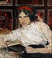 Портрет студентки М.Н. Быстровой, 1913. Фешин Н. И.jpg