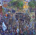 Сентябрь в Москве. хм. 120х120 см. 1993 г..JPG