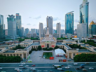 Shanghai Exhibition Centre, an example of Soviet neoclassical architecture in Shanghai