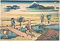 冨嶽三十六景 相州仲原-Nakahara in Sagami Province (Sōshū Nakahara), from the series Thirty-six Views of Mount Fuji (Fugaku sanjūrokkei) MET DP141008.jpg