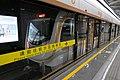 绿汀路站内的16号线列车, 2020-04-24.jpg