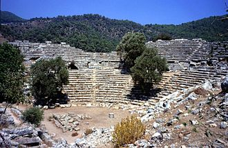 Dalyan - Ancient Kaunos theater near Dalyan
