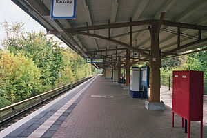 Schulzendorf railway station - Station platform