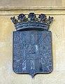 046 Ajuntament de Mollerussa, escut de la ciutat.JPG