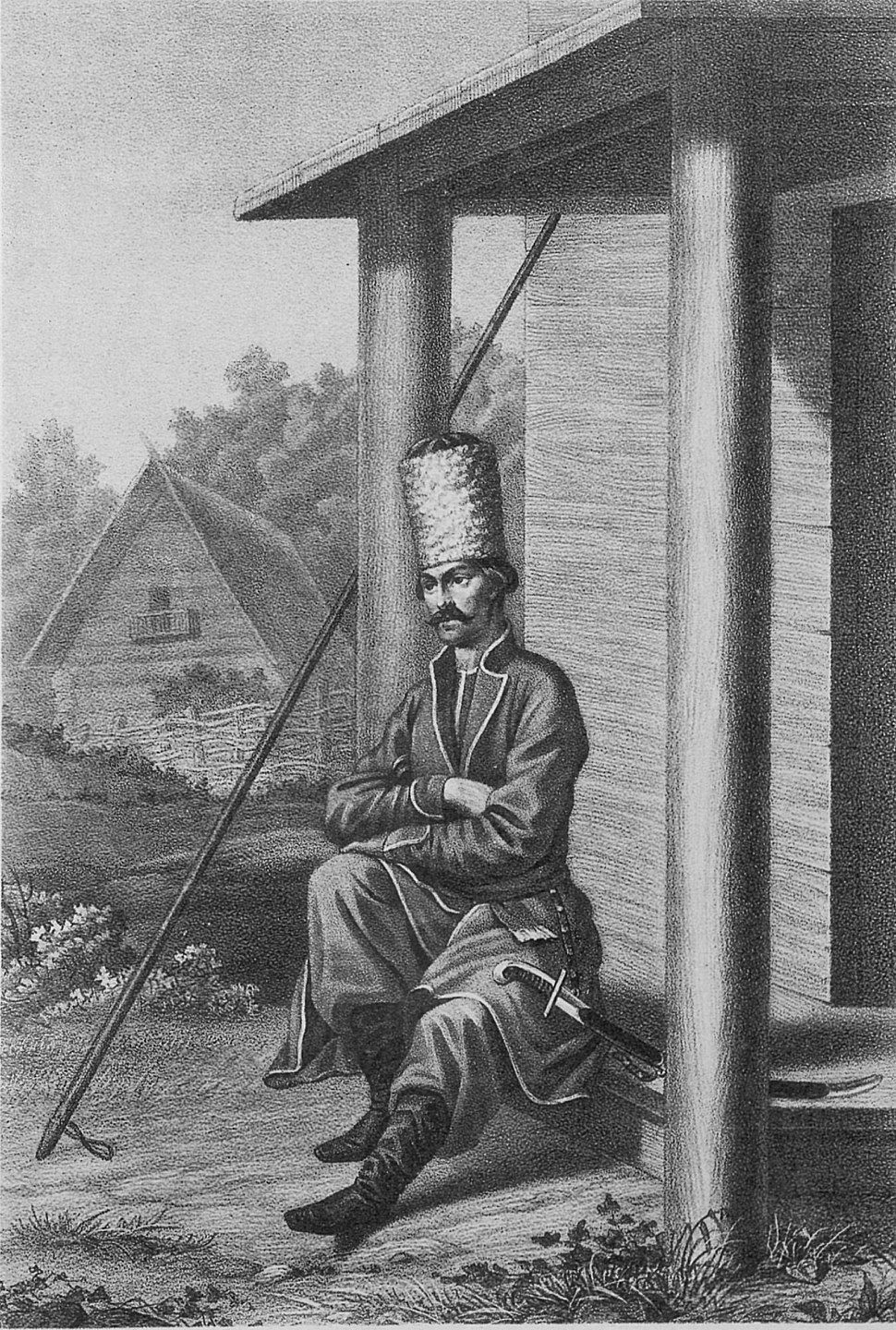 06 812 Book illustrations of Historical description of the clothes and weapons of Russian troops