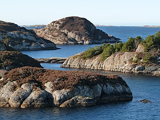 Solund - View of the Ospa narrows strait