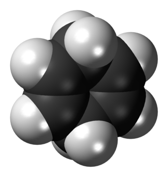 1,4-Cyclohexadiene - Image: 1,4 Cyclohexadiene 3D spacefill