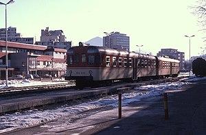 Velenje - Velenje train station in 1997.