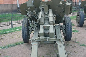 T-12 antitank gun - T-12, rear view.
