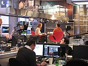 MSNBC's current studio in NYC