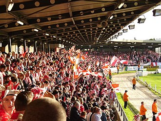 Brandywell Stadium - The Brandywell on match-day.