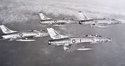 127th Tactical Fighter Squadron - 4 aircraft F-100C formation