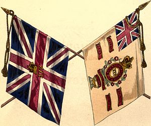 West Yorkshire Regiment - Regimental colours, 1845