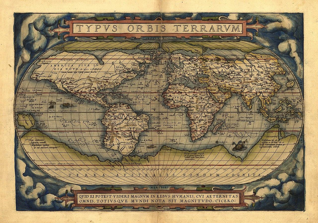 Mappa storica dell'Antartide - 1570 - Abraham Ortelius