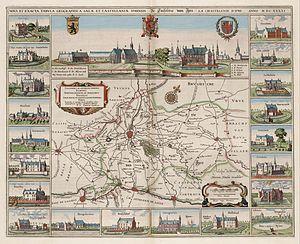 Henricus Hondius II - Image: 1641 Ieper + Blaeu HR