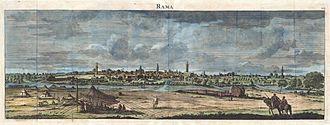 Ramla - 1698 scene by Cornelis de Bruijn