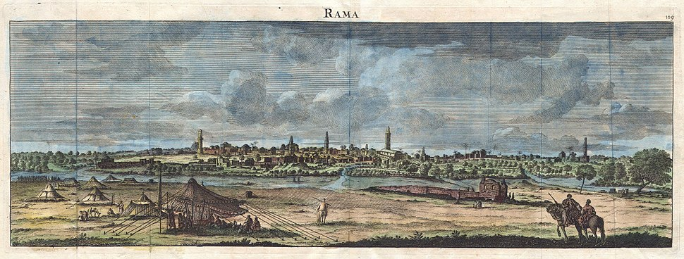 1698 de Bruijin View of Rama, Israel (Palestine, Holy Land) - Geographicus - Rama-bruijn-1698