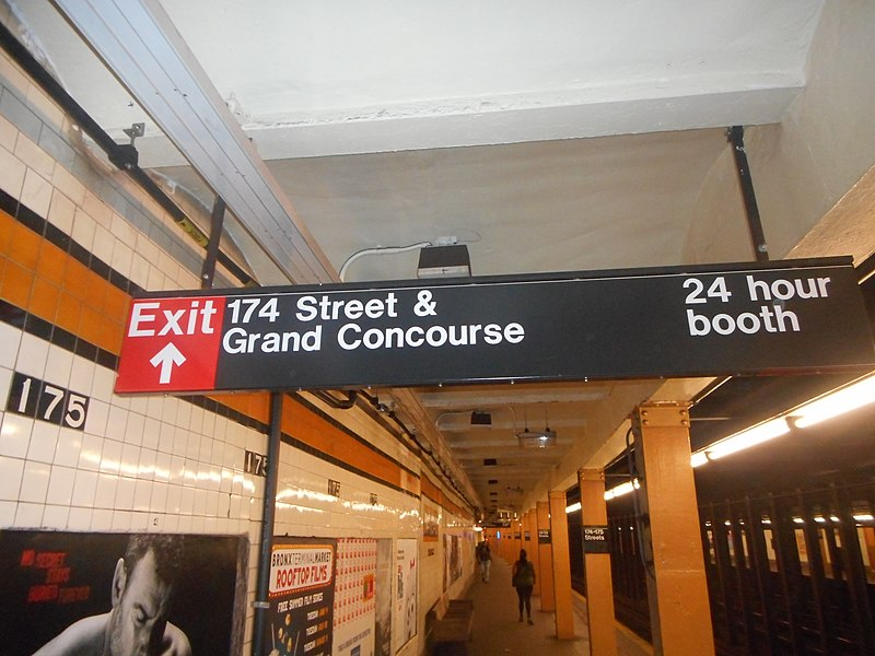 File:174th–175th Streets IND Concourse; Exit to 174th Street.jpg