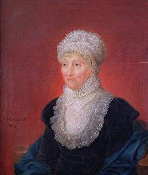 1829 Melchior Gommar Tieleman, Ölgemälde Caroline Herschel Hannover.tif