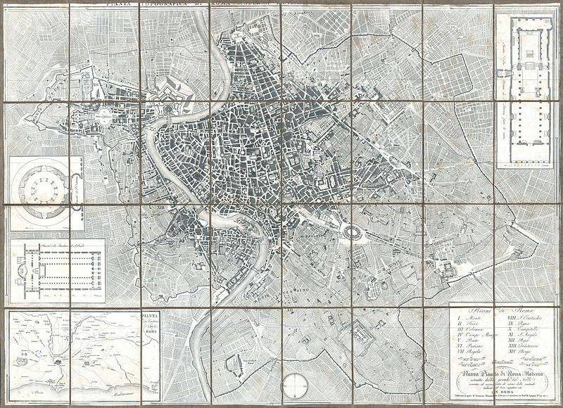 Venanzio Monaldini Nuova Pianta di Roma 1843