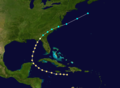 1852 Atlantic hurricane 5 track.png