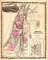 1862 Johnson Map of Palestine - Israel - Holy Land - Geographicus - Palestine-johnson-1864.jpg