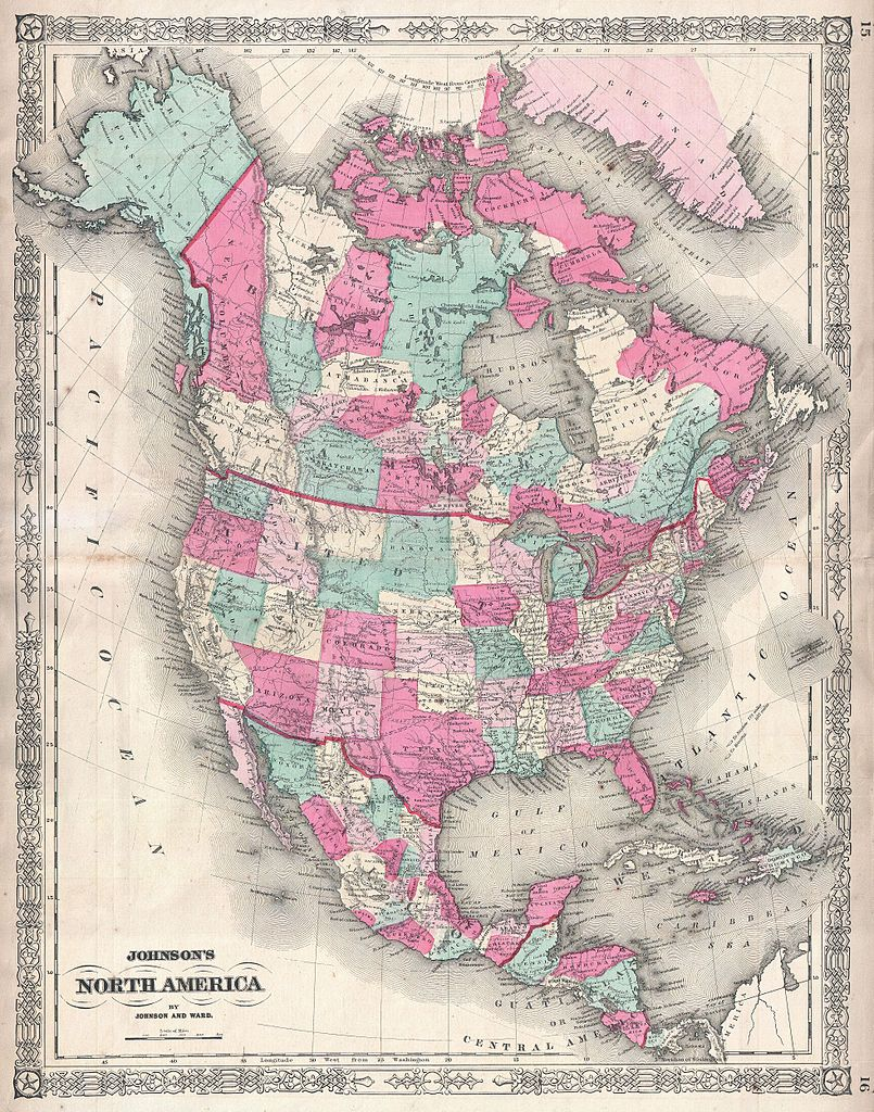 United States Of America And Canada Map North Dakota Studies Map - Maps of america and canada