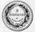 1868 Danish 2 rigsdaler reverse.png