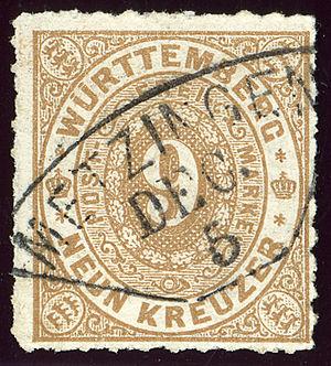 Metzingen - Metzingen in the Kingdom of Wurtemberg near 1873