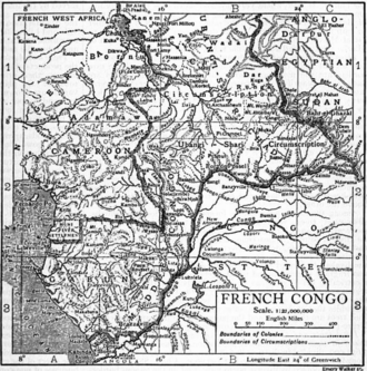 French Congo - Le Congo français in 1911.