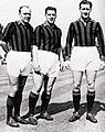 1950s AC Milan's Swedish trio of Gre-No-Li (Gren, Nordahl and Liedholm).jpg