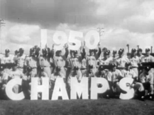 1951 New York Yankees season - The 1951 Yankees celebrate their victory in the previous season's World Series.