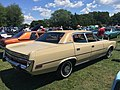 1973 AMC Ambassador Brougham sedan in beige with cinnamon and a 401 V8 at 2015 Macungie show 02.jpg