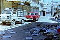 1995 Aleppo Syria. Trash in Sleepy Street + Chevrolet + Suzuki. Spielvogel Archiv.JPG
