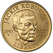1997 Jackie Robinson Uncirculated Five Dollars (obverse).jpg