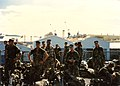 1st Platoon, A Company, 1st Battalion, 3rd Marines aboard USS Tuscaloosa (LST-1187) at Naval Station Subic Bay, Philippines in December 1989.jpg