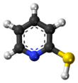 2-Mercaptopyridine molecule (thiol form)