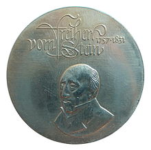Gedenkmünze der DDR zum 150. Todestag Steins 1981 (Quelle: Wikimedia)