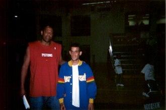Earl Cureton - Cureton (left) coaching a 2002 Summer League game