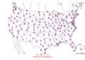 2006-03-30 Max-min Temperature Map NOAA.png
